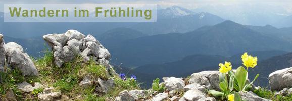 Wandern im Frühling Bayern