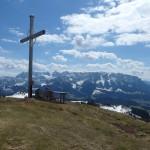 Wandberg Gipfelkreuz mit Brotzeittisch